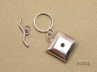 20mm Single-strand Sterling Silver Toggle Clasp