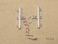 31mm Three-strand Sterling Silver Clasp