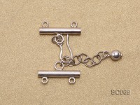 21mm Double-strand Sterling Silver Clasp