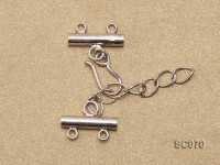 16mm Double-strand Sterling Silver Clasp