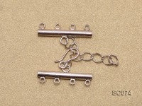 28mm Four-strand Sterling Silver Clasp