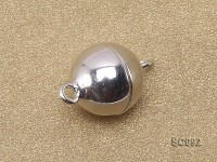 10mm Single-strand Magnetic Sterling Silver Ball Clasp