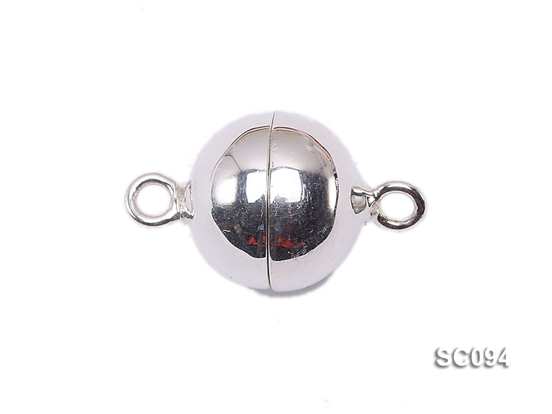 12mm Single-strand Magnetic Sterling Silver Ball Clasp