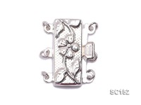 9.5*19.5mm Three-strand Sterling Silver Clasp
