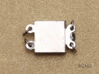 8*12mm Double-strand Sterling Silver Clasp