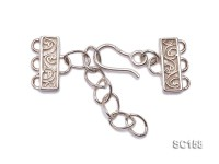 15mm Three-strand Sterling Silver Clasp
