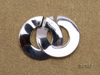 16*22mm Single-strand Sterling Silver Clasp