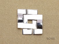 15*22mm Single-strand Sterling Silver Clasp
