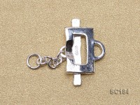 8*14mm Single-strand Sterling Silver Toggle Clasp