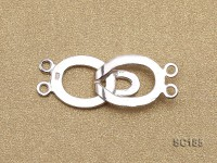 12*30mm Double-strand Sterling Silver Clasp