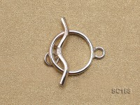 15mm Single-strand Sterling Silver Toggle Clasp