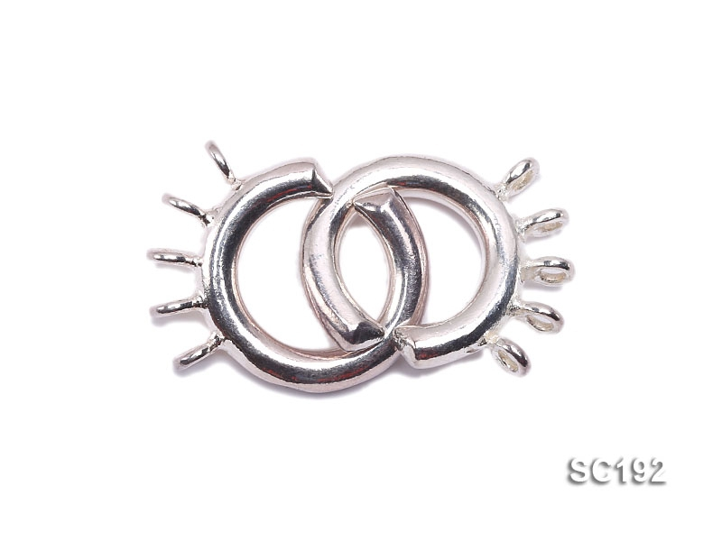 15mm Five-strand Sterling Silver Clasp
