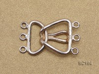 15*26mm Three-strand Sterling Silver Clasp