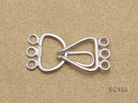 10*20mm Three-strand Sterling Silver Clasp