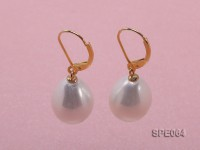 12x17mm gorgeous white teardrop seashell pearl earrings in sterling silver