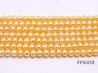 Wholesale 6.5×7.5mm  Flat Cultured Freshwater Pearl String