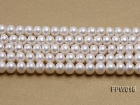 Wholesale 7x9mm White Flat Freshwater Pearl String