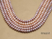 Wholesale 7.5x10mm Flat Freshwater Pearl String
