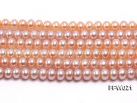 Wholesale 6.5x8mm Natural Pink Flat Cultured Freshwater Pearl String