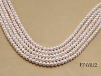 Wholesale 7x9mm Classic White Flat Cultured Freshwater Pearl String