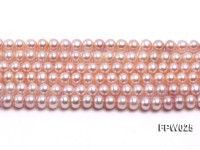 Wholesale 6x7mm Pink Flat Cultured Freshwater Pearl String