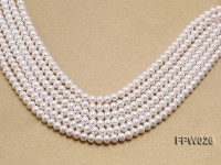 Wholesale 7.5×9.5mm White Flat Cultured Freshwater Pearl String