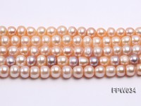 Wholesale Super-quality 10-12mm Flat Cultured Freshwater Pearl String
