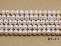 Wholesale High-quality 8.5x10mm White Flat Freshwater Pearl String