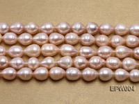 Wholesale 9.5X11.5mm Pink Rice-shaped Freshwater Pearl String