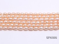 Wholesale 5.5-6.5mm High-quality Pink Rice-shaped Freshwater Pearl String