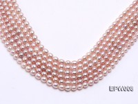 Wholesale High-quality 6.5-7.5mm Natural Lavender Rice-shaped Freshwater Pearl String