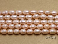 Wholesale 10X12mm Pink Rice-shaped Freshwater Pearl String