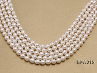 Wholesale Classic 8x9mm White Rice-shaped Freshwater Pearl String