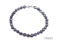 Classic 10mm Purplish-grey Irregular Freshwater Pearl Necklace