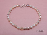 Classic 10-11mm Multi-color Irregular Freshwater Pearl Necklace