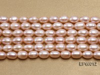 Wholesale 7.5X10.5mm Natural Pink Rice-shaped Freshwater Pearl String