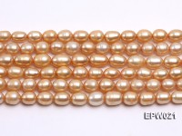 Wholesale 7X8.5mm  Rice-shaped Freshwater Pearl String