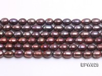 Wholesale 6x7mm Wind Red Rice-shaped Freshwater Pearl String