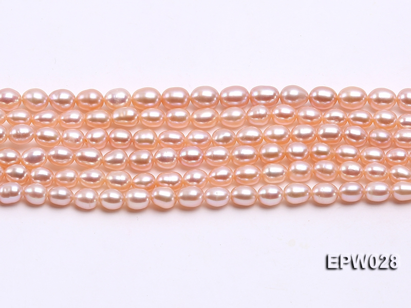 Wholesale 5×6.5mm Rice-shaped Freshwater Pearl String