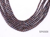 Wholesale 5.5X6.5mm  Rice-shaped Freshwater Pearl String