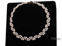 5-5.5mm natural white rice freshwater pearl single necklace