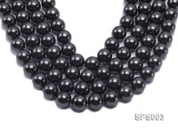 Wholesale 16mm Black Round Seashell Pearl String