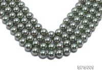 Wholesale 16mm Green Round Seashell Pearl String
