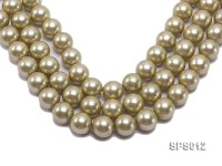Wholesale 16mm Olive Round Seashell Pearl String