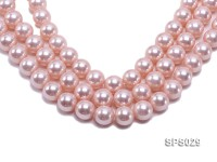 Wholesale 16mm Pink Round Seashell Pearl String