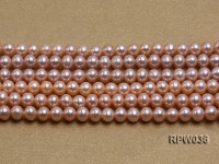 Wholesale & Retail 6-7mm Pink Round Freshwater Pearl String