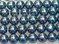 Wholesale 6-7mm Dark Blue Round Freshwater Pearl String
