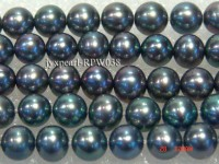 Wholesale 6-7mm Black Round Freshwater Pearl String