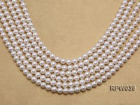 Wholesale High-quality 7-8mm Classic White Round Freshwater Pearl String