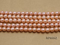 Wholesale AAA 7.5-8mm Pink Round Freshwater Pearl String